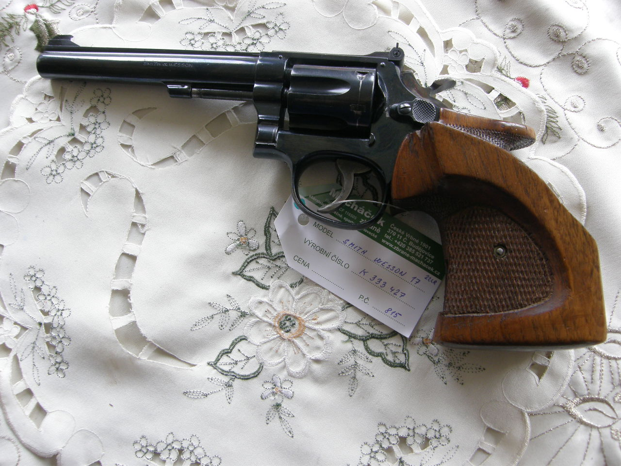 Revolver Smith Wesson Mod.17 r. 22 lr. v.č.K 333427